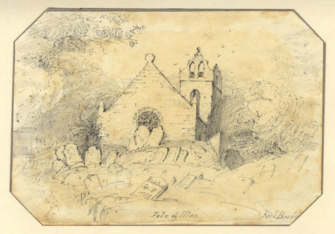 Jane D. Harvey, Old Kirk Braddan Church, Isle of Man - 1837 graphite drawing