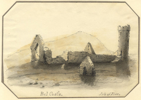 Jane D. Harvey, Peel Castle, Isle of Man - c.1837 graphite drawing
