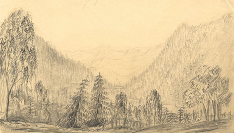 Alfred Swaine Taylor, Pass of Killiecrankie, Perthshire -c.1829 graphite drawing