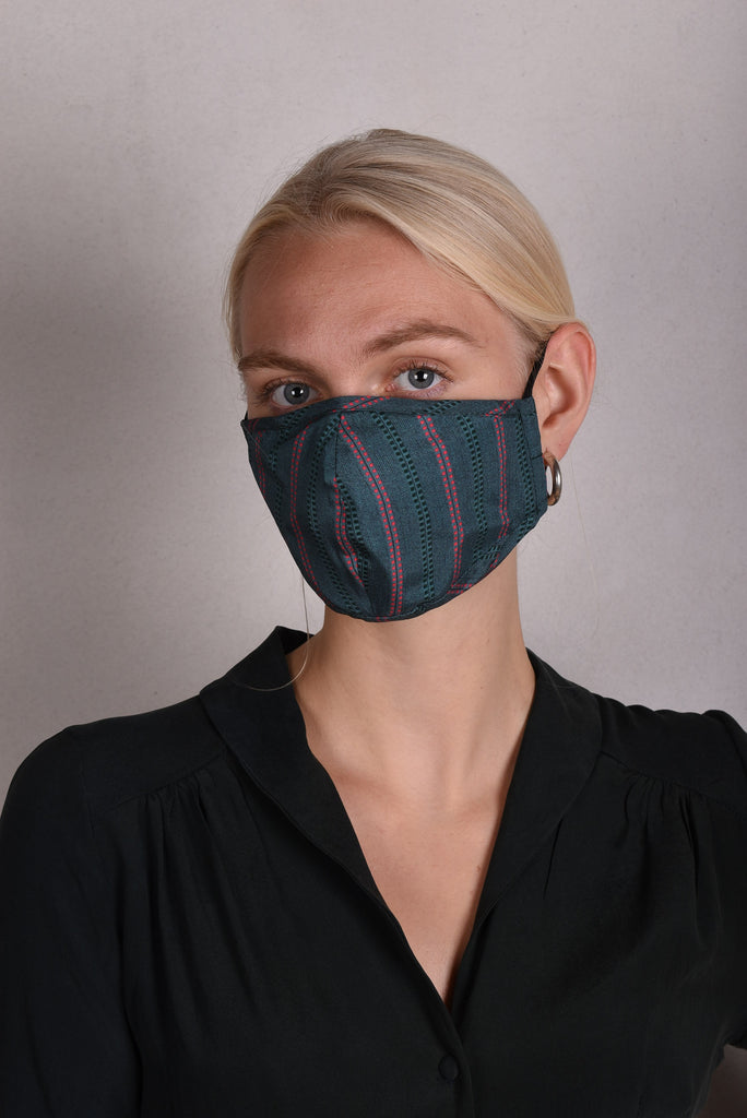 Silk mask for protection of mouth and nose (Stripe)