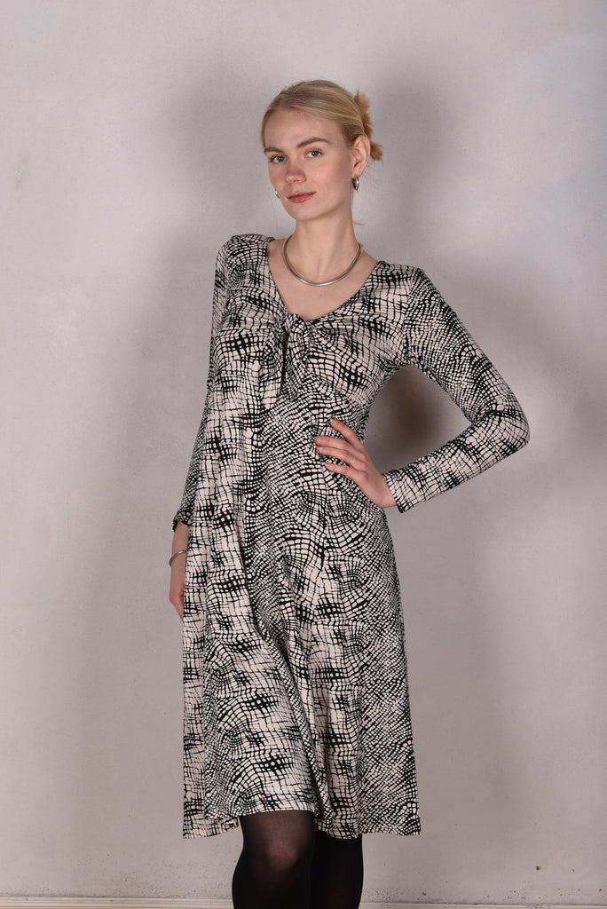 """Anette"" Dress in silk-mix-jersey print ""Gateway"""