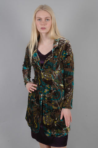 "Silk Velvet Jacket ""Mathias"" in print ""Cantrell"""