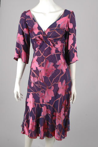 """Marvellous"" Reversible silk dress. Print ""Renim/Ripe"""