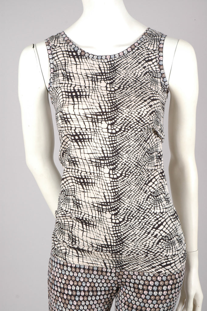 """Lucinda"" Tank top in silk-mix-jersey. ""Gateway"""