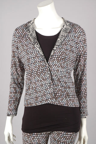 """Linda"" Cardigan in Silk-mix-jersey. ""Sequins"""