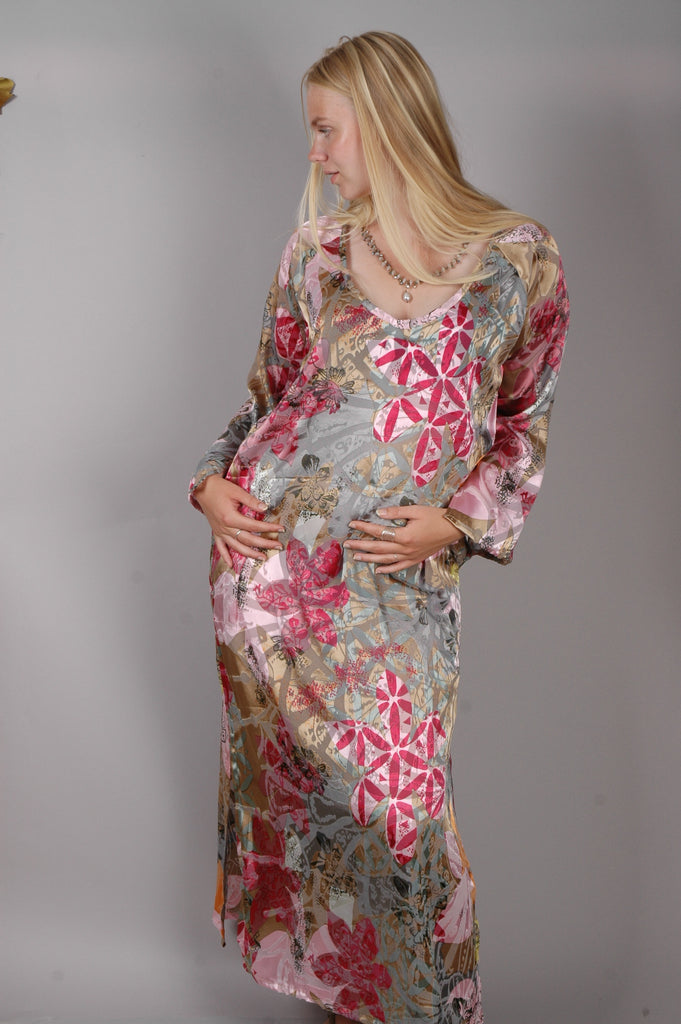 """Indrea"" Maxi dress kaftan-style, with pockets"