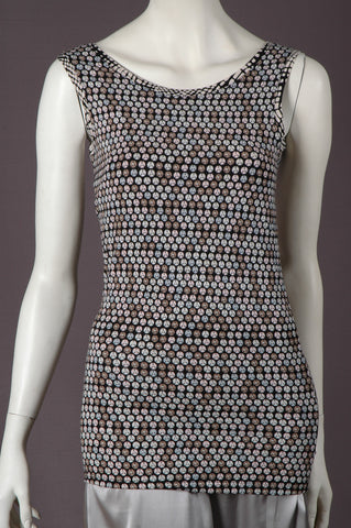 """Lucinda"" Tank top in silk-mix-jersey. ""Sequins"""