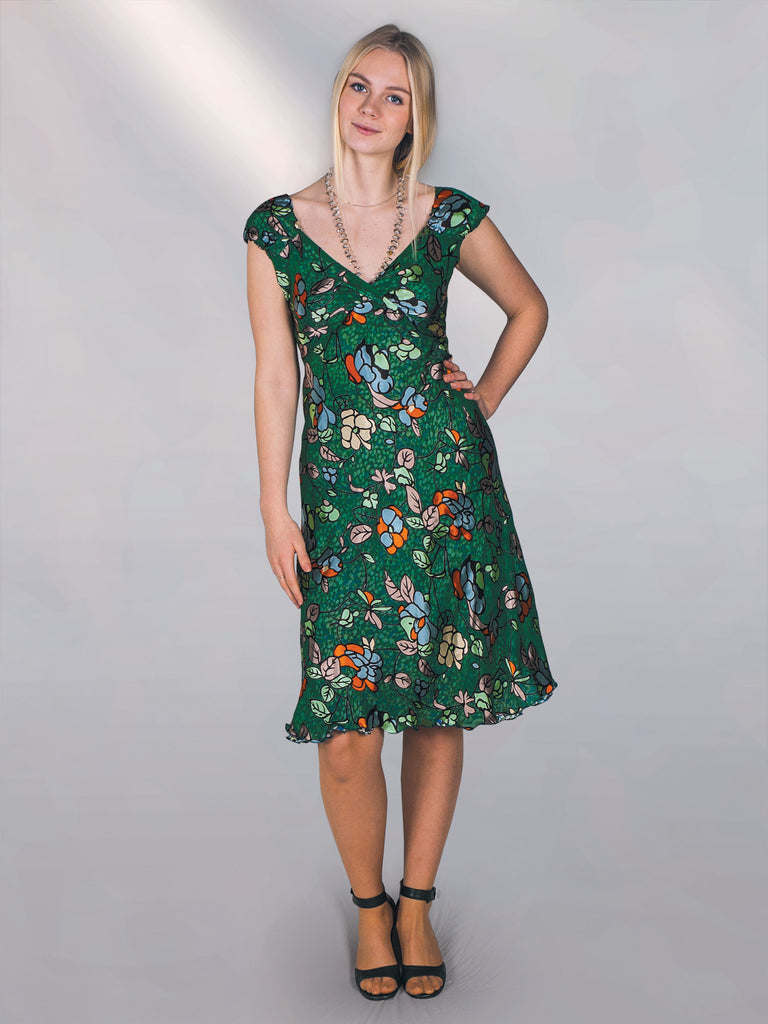 "Marguerit - reversible silk dress print ""Capri/Props"""
