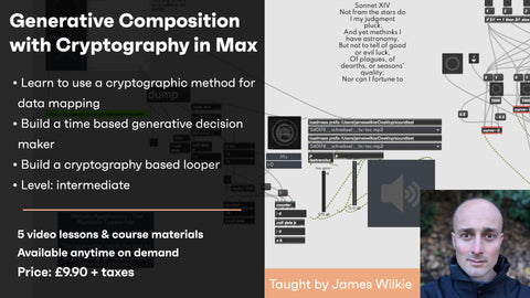 Generative Composition with Cryptography in Max - On demand