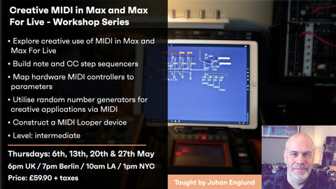 Creative MIDI in Max and Max For Live 4 part series - LIVE Session