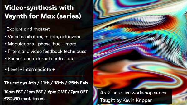 Video Synthesis with Vsynth for Max - LIVE Session