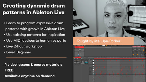 Creating dynamic drum patterns in Ableton Live - On demand