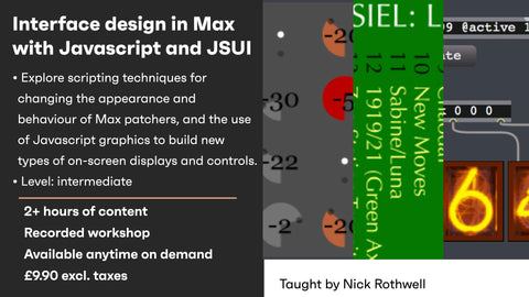 Interface design in Max with JS/JSUI – recording