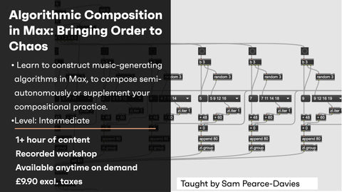 Algorithmic Composition in Max: Bringing Order to Chaos