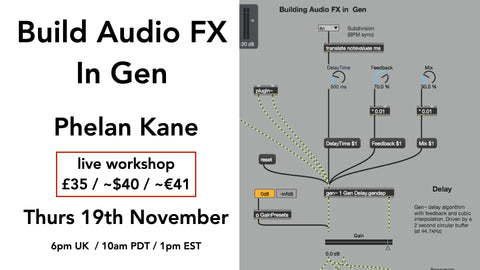 Building audio FX in Gen