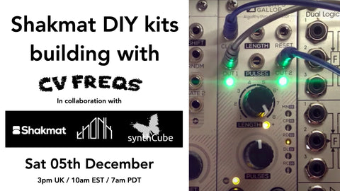 Shakmat DIY modular synth build with CV FREQS
