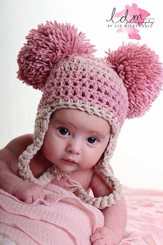 Newborn Double Pom Pom Hat Kit