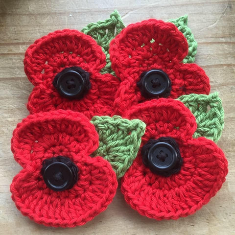 Free Crochet Poppy Workshop -  Tuesday 3rd November   6.30pm - £5 charge for materials supplied