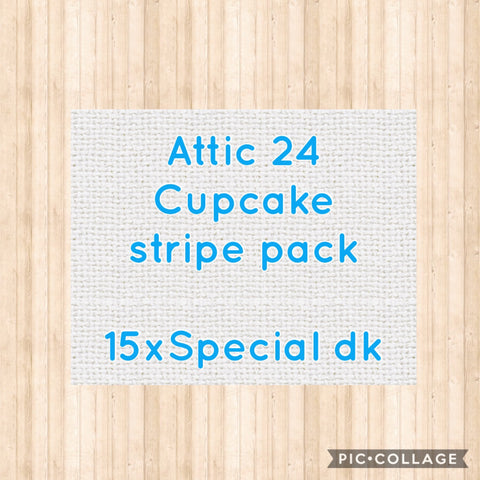 Attic 24 Cupcake Stripe Blanket Colour Pack