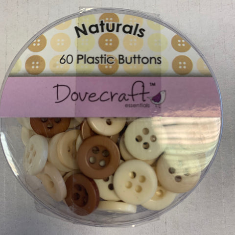 Dovecraft Button Pack - 60 buttons