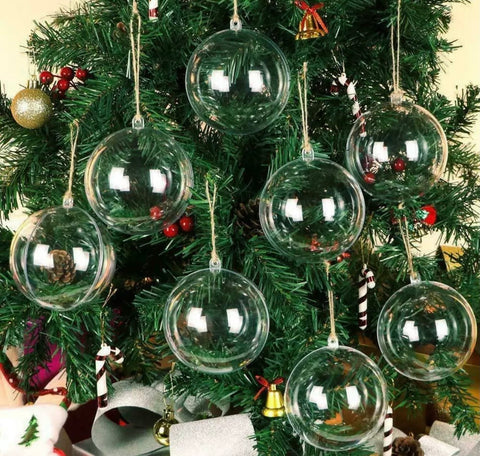 8cm Fillable baubles