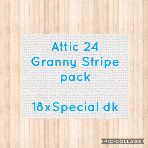 Attic 24 Granny Stripe Blanket Colour Pack