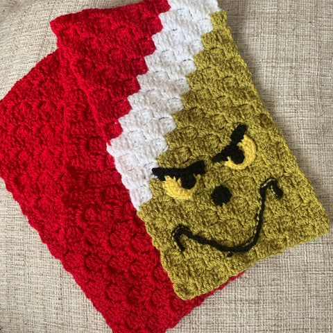 Grinch Scarf Workshop Sunday 15th November 6.30-8.30pm