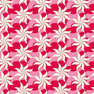 Tilda Fireworks Red Cotton Fabric, Cottage Collection, Tilda Fabric 481517 - Fabric and Ribbon