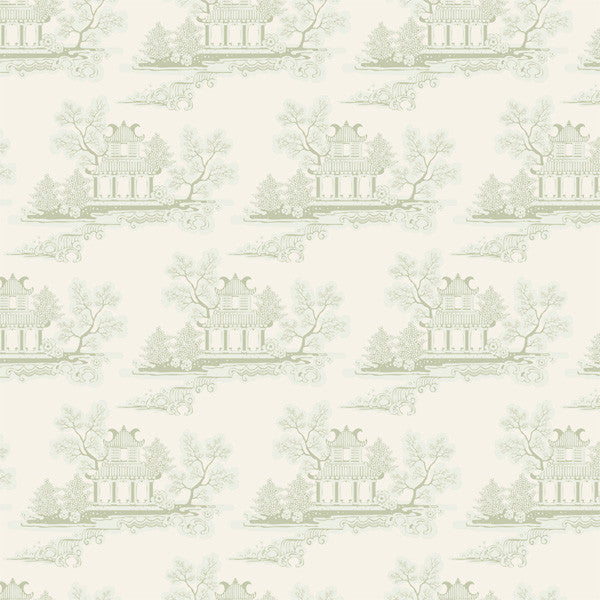 Tilda China Grey Green Cotton Fat Quarter, The Seaside Life Collection, Fat Quarter, 50 cm x 55 cm
