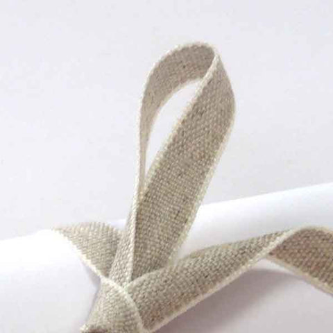 10 mm Linen Ribbon by La Stephanoise