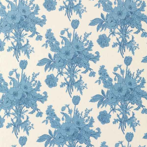 Tilda Botanical Blue Cotton Fabric, Cottage Collection, Tilda Fabric 481527