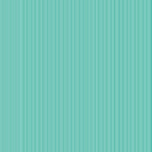 Turquoise Pinstripe Cotton Fabric by Makower 2088/T from their Pinstripe Basics Collection