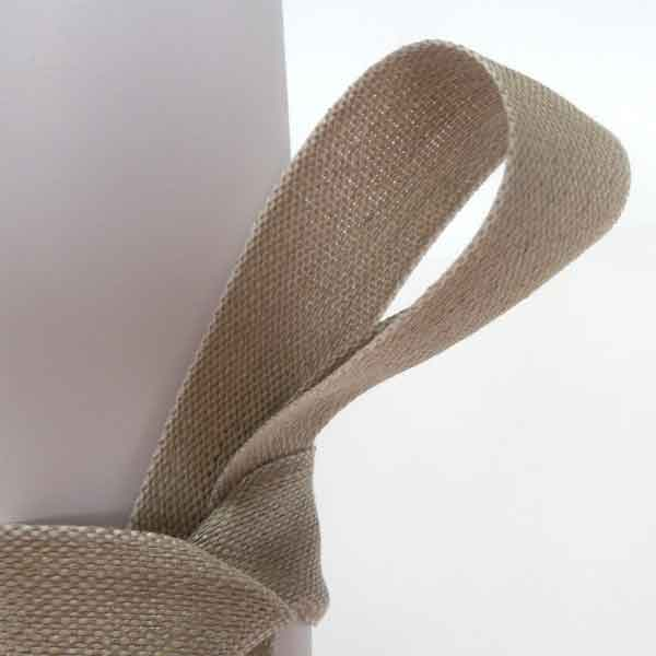 40 mm Linen Ribbon by La Stephanoise, 1.5 inch Natural Linen Ribbon with White Edges - Fabric and Ribbon