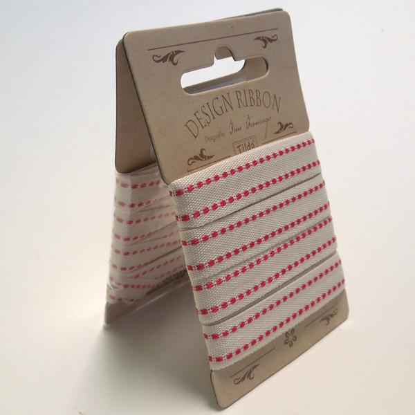 10 mm Tilda Ribbon, Seams Cream Ribbon part of Tilda's Sweet Christmas Collection