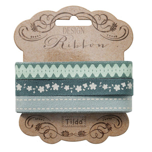 10 mm Tilda Ribbon, Spring Lake Cotton Ribbon 480831, Set of 3 Tilda ribbons