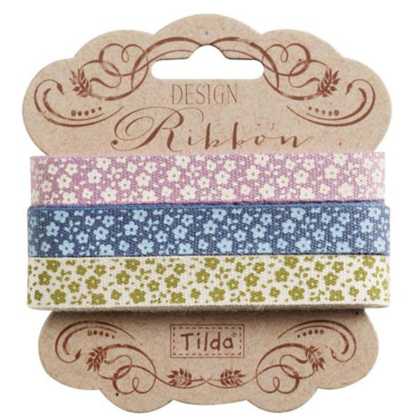 Tilda Ribbon, Autumn Tree Ribbon, Set of 3 different Tilda ribbons,  2 metres x 10mm, 6 metres in total