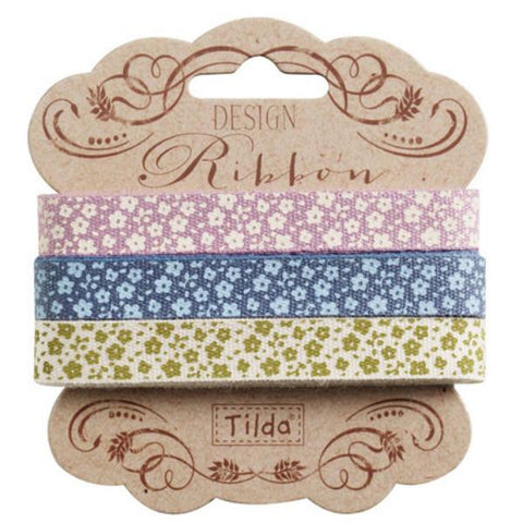 10 mm Tilda Ribbon, Autumn Tree Ribbon 480963 Set of 3 Tilda ribbons