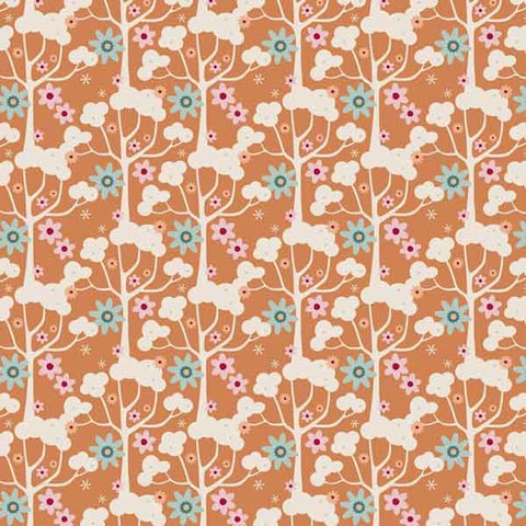 Tilda Wildgarden Honey Yellow Cotton Fabric, Spring Diaries Collection, Tilda Fabric 481082