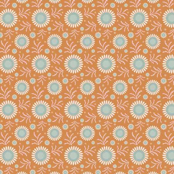 Tilda Sunflower Honey Yellow Cotton Fabric, Spring Diaries Collection, Tilda Fabric 481088 - Fabric and Ribbon