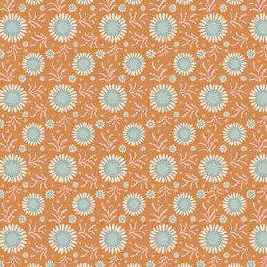Tilda Sunflower Honey Yellow Cotton Fabric, Spring Diaries Collection, Tilda Fabric 481088