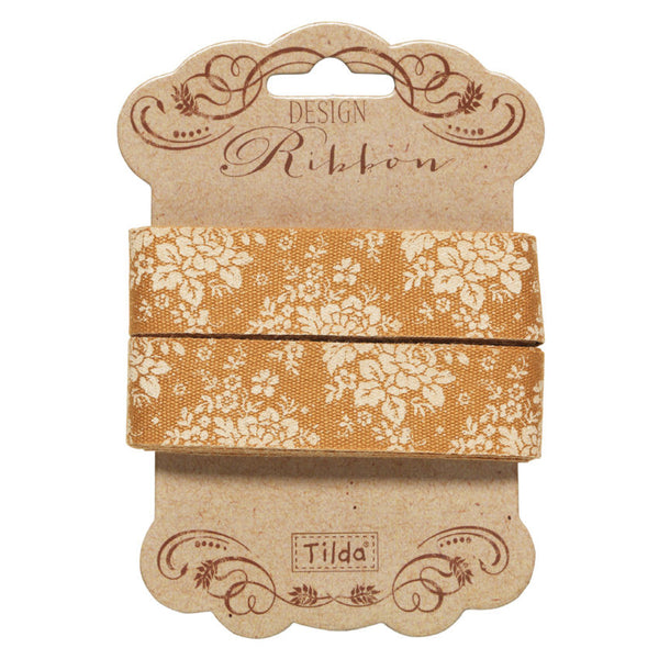 20 mm Tilda Ribbon, Audrey Honey Yellow Ribbon 481103 Tilda's Spring Diaries Collection