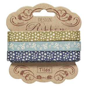 10 mm Tilda Ribbon, Pardon My Garden Ribbon 481106 Set of 3 Tilda ribbons