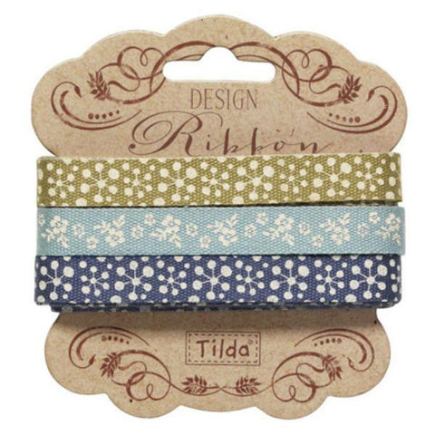 Tilda Ribbon, Pardon My Garden Ribbon, Set of 3 different Tilda ribbons,  2 metres x 10mm, 6 metres in total