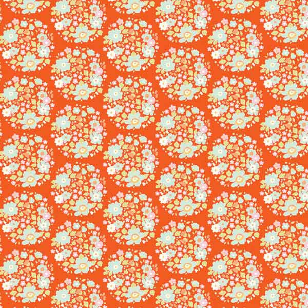 Tilda Flower Nest Ginger Cotton Fabric, 481307