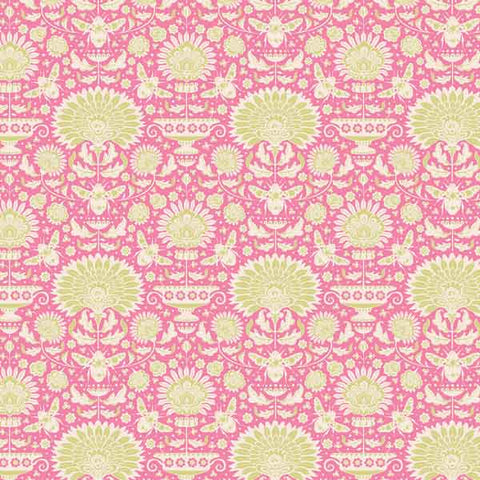 Tilda Garden Bees Pink Cotton Fabric, 481318