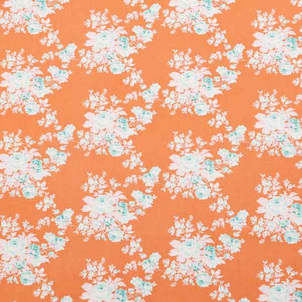 Tilda Autumn Rose Ginger Cotton Fabric, Harvest Collection, Tilda Fabric 481509 - Fabric and Ribbon