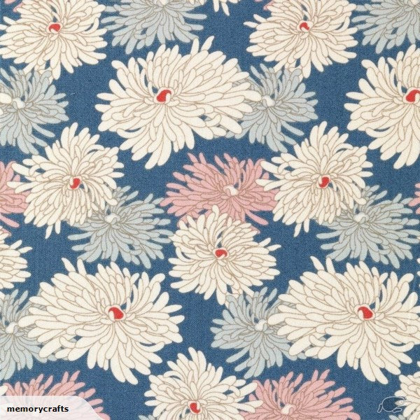 Tilda Minnie Blue Cotton Fabric, Cottage Collection, Tilda Fabric 481526 - Fabric and Ribbon