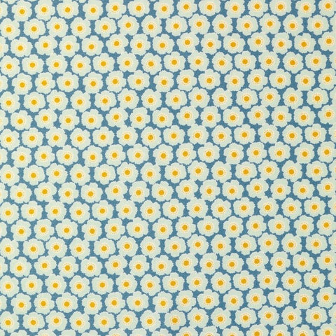 Tilda Bessie Blue Cotton Fabric, Harvest Collection, Tilda Fabric 481492 - Fabric and Ribbon