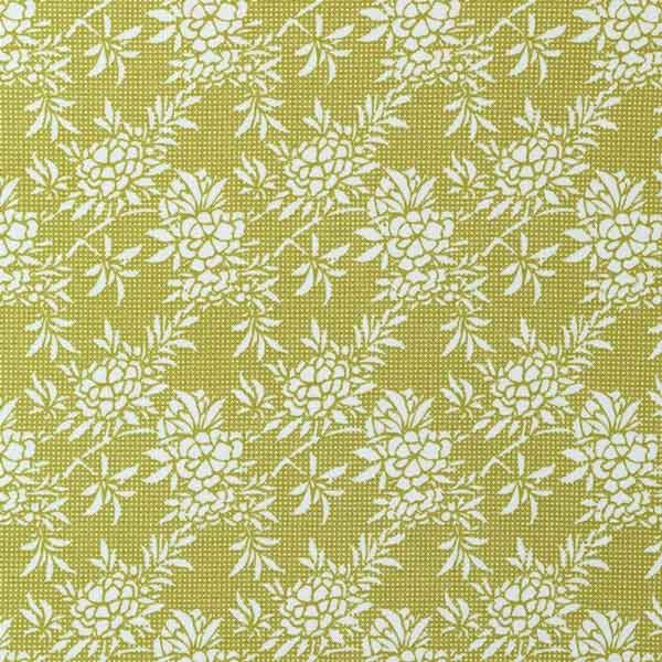 Tilda Flower Bush Green Fat Quarter, Harvest Collection, Tilda Fabric 481554 - Fabric and Ribbon