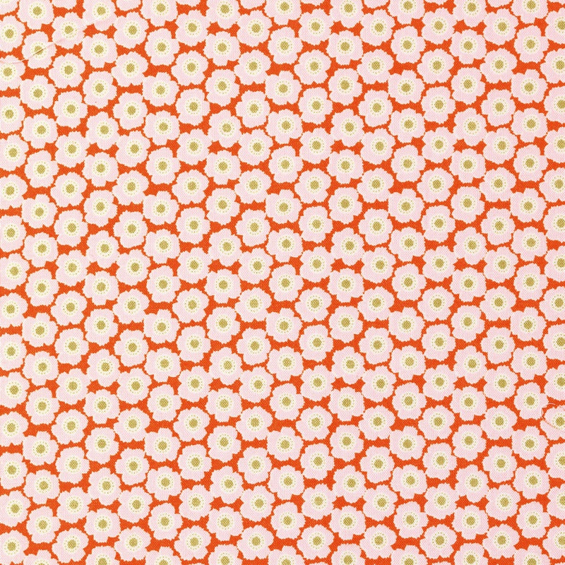 Tilda Bessie Ginger Cotton Fabric, Harvest Collection, Tilda Cotton Fabric 481508 - Fabric and Ribbon